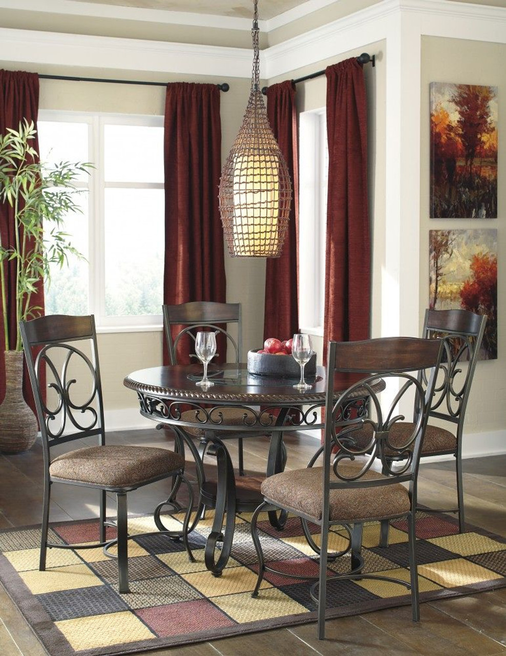 al s chairs and tables oak adirondack the glambrey 5 pc round dining room table 4 upholstered side