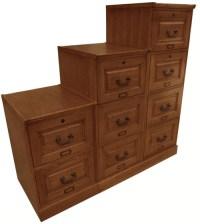 Oak Four Drawer File Cabinet Antique Harvest