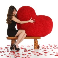 44in Huge Red Heart Body Pillow for Valentines Day from ...