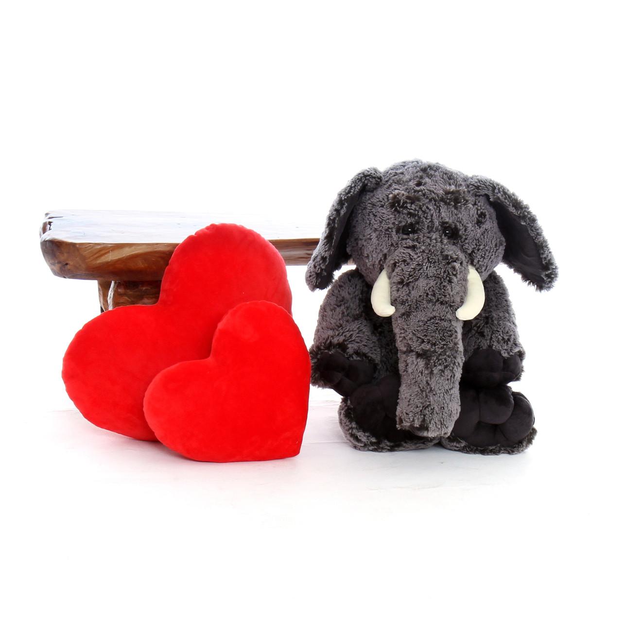 30in Big Stuffed Lucy Elephant - Giant Teddy