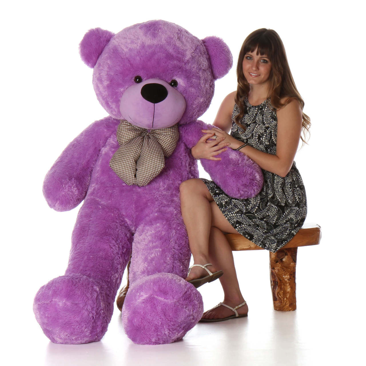 Deedee Cuddles 55 Lilac Huge Plush Teddy Bear Giant