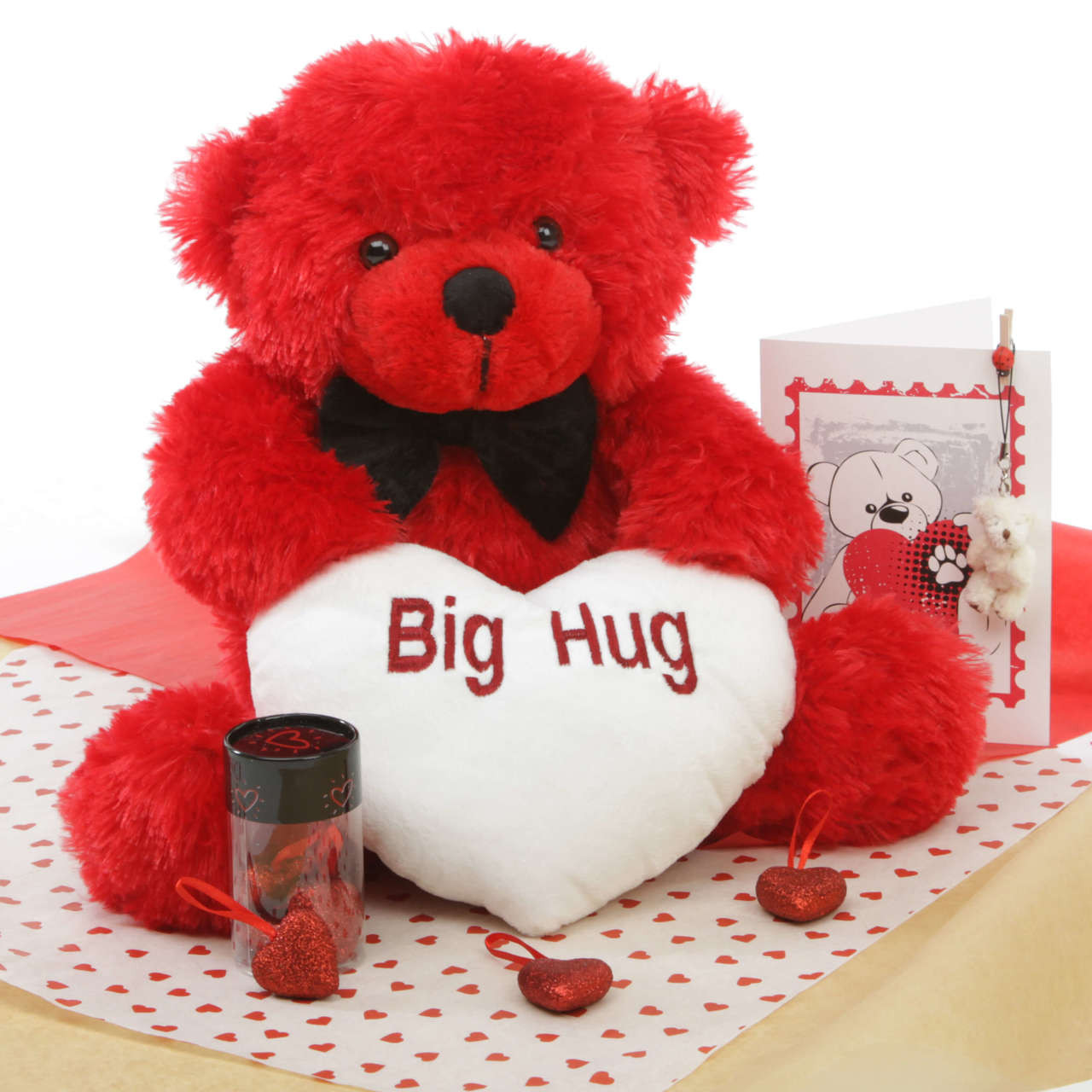 He Loves Me Bear Hug Care Package Featuring Bitsy Cuddles