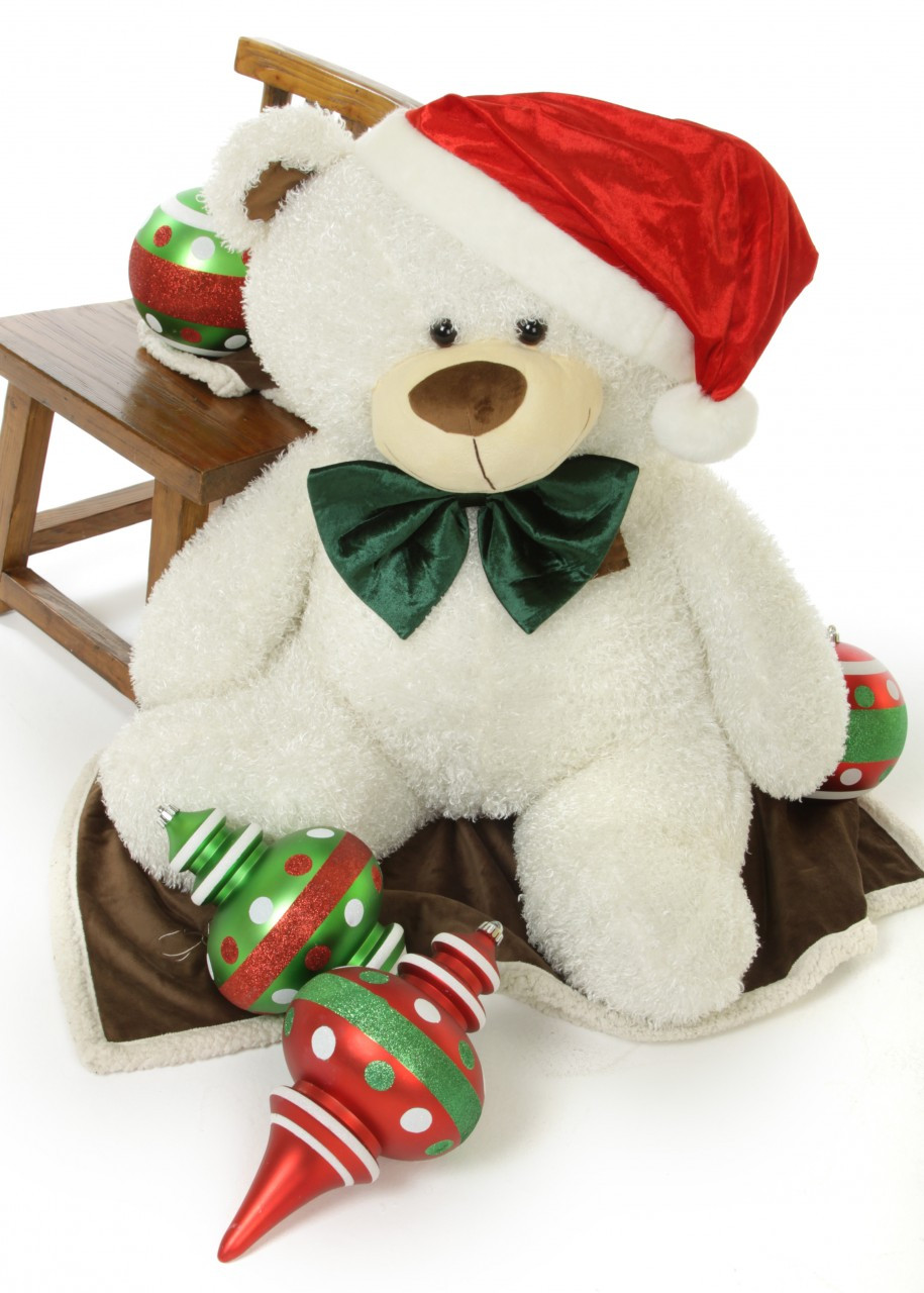 Celebrate A White Teddy Bear Christmas With Big Frosty