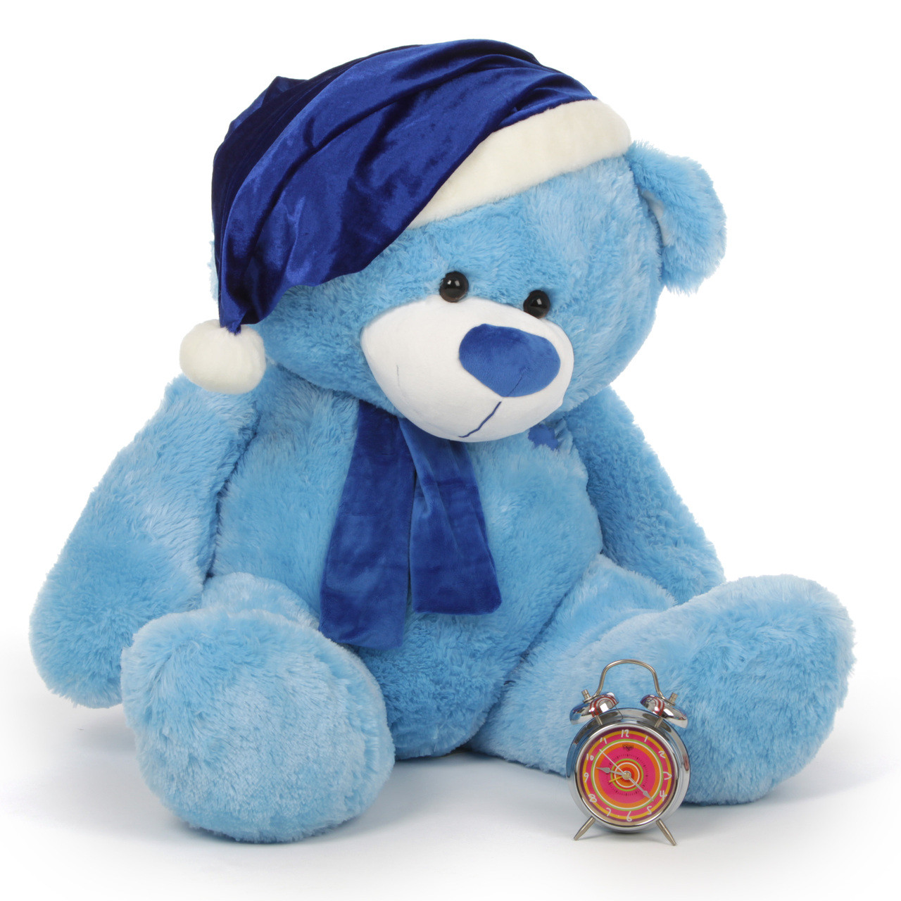 Marty Shags Light Blue Giant Christmas Teddy Bear In Blue