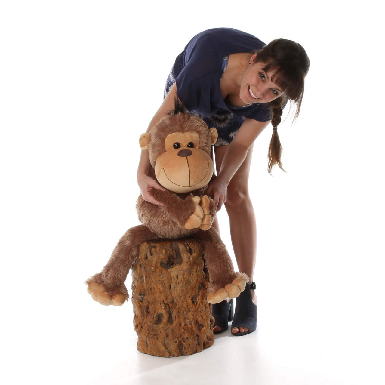 30in Giant Stuffed Monkey Funny Freddy With Super Soft