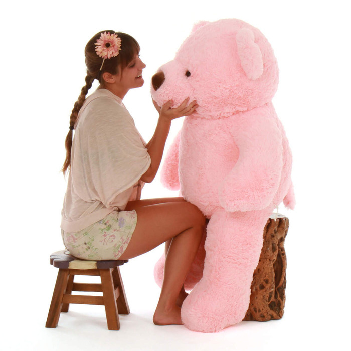 Gigi Chubs Plush And Adorable Light Rose Big Teddy Bear 48in