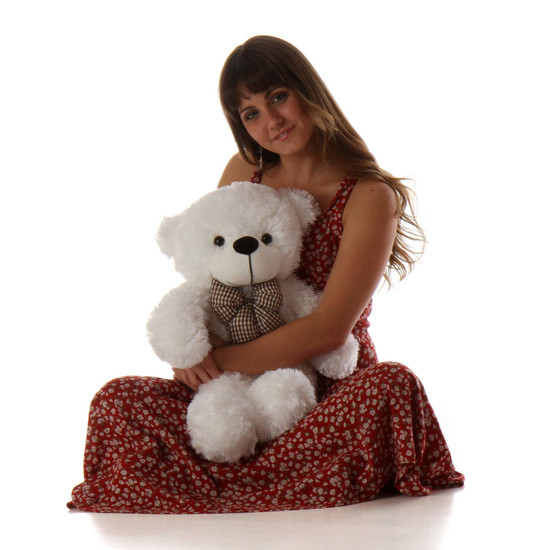 Coco Cuddles 24 White Cute Stuffed Teddy Bear Giant