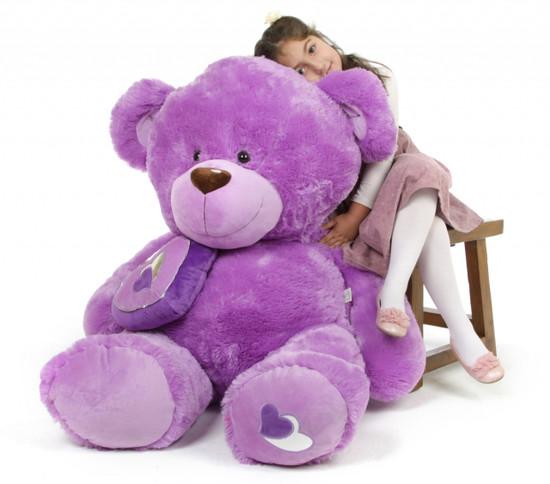 Sewsie Big Love 47 Lavender Valentine Teddy Bear Giant Teddy Bears