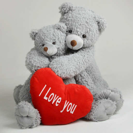 Sugar Kisses Valentines Teddy Bears With Heart I Love You Woolly Tubs 42 Inch And 32 Inch