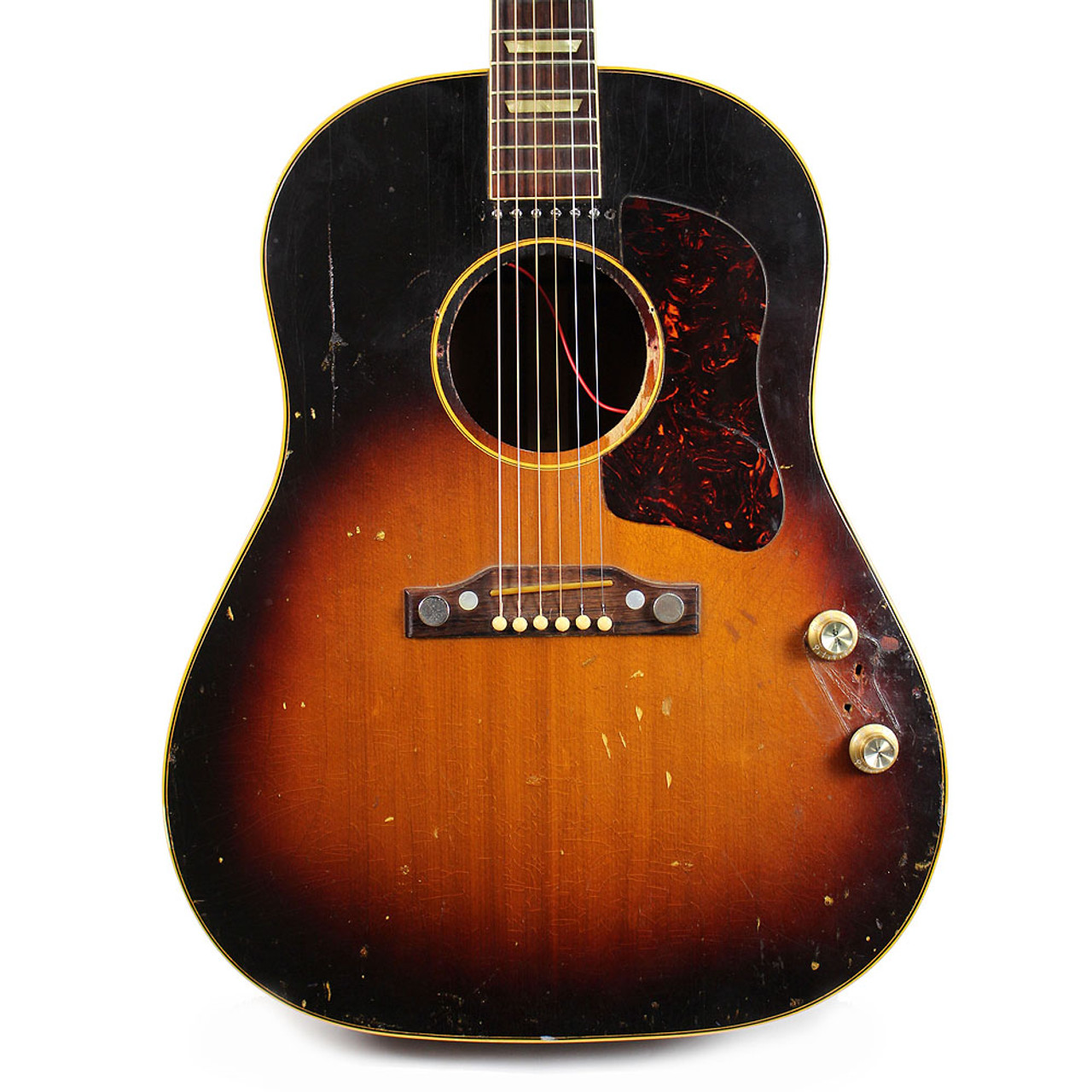 small resolution of vintage 1954 gibson j 160e dreadnought acoustic electric guitar sunburst finish