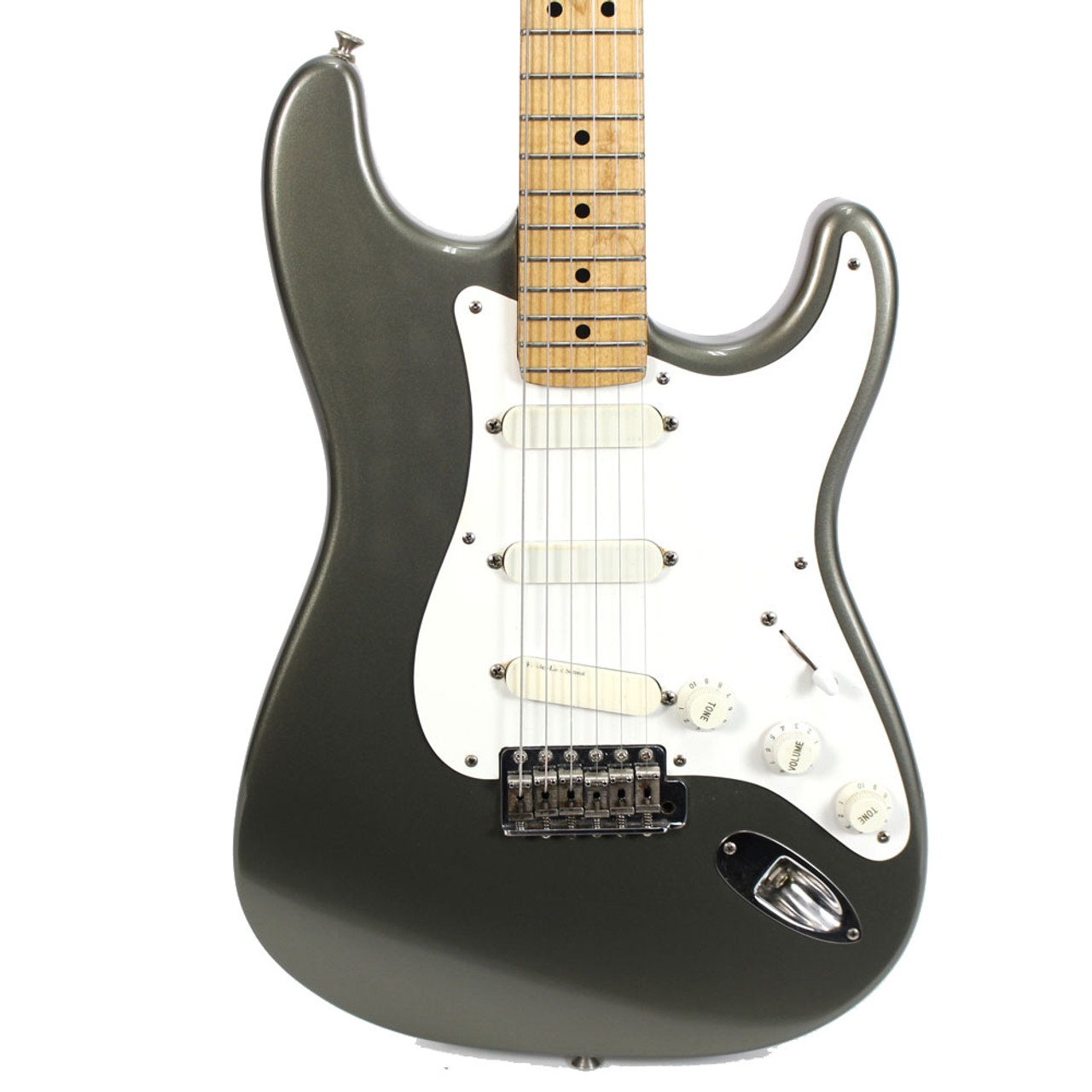 1990 fender eric clapton signature stratocaster electric guitar in pewter finish [ 1000 x 1000 Pixel ]