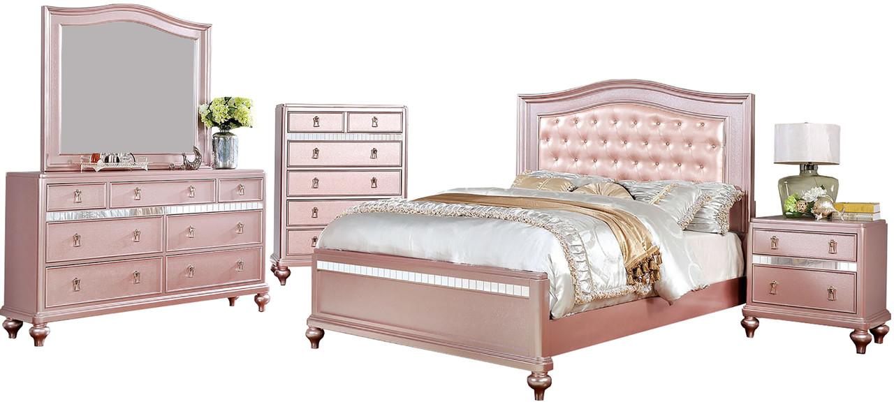 Aubriana Rose Gold Bed CB Furniture