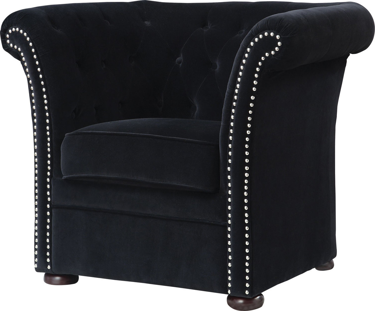 Black Accent Chairs Remi Black Accent Chair