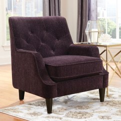 Purple Accent Chair For Guitar Playing Velvetta Cb Furniture