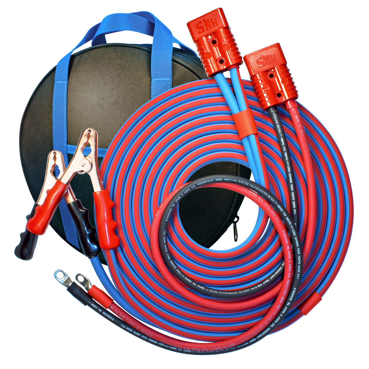small resolution of 30 cold weather heavy duty jumper cable clamp to harness 2 gauge booster system