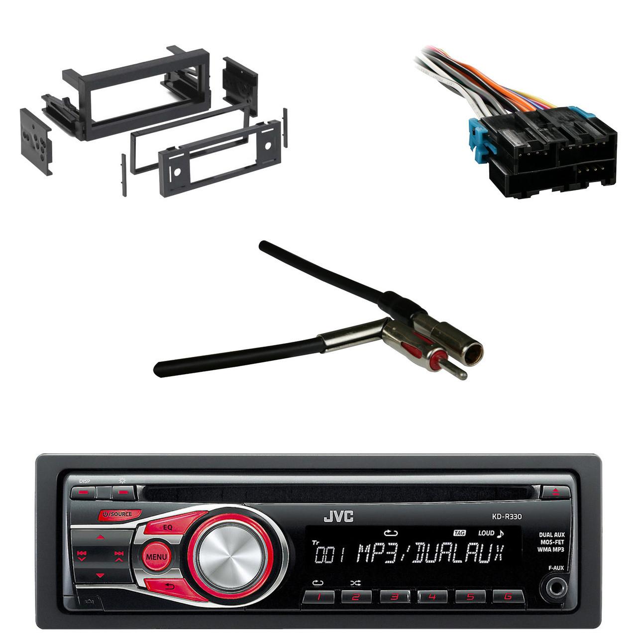 medium resolution of jvc kdr330 cd aux car radio antenn adapter gm wire harness gm rh roadentertainment com wiring