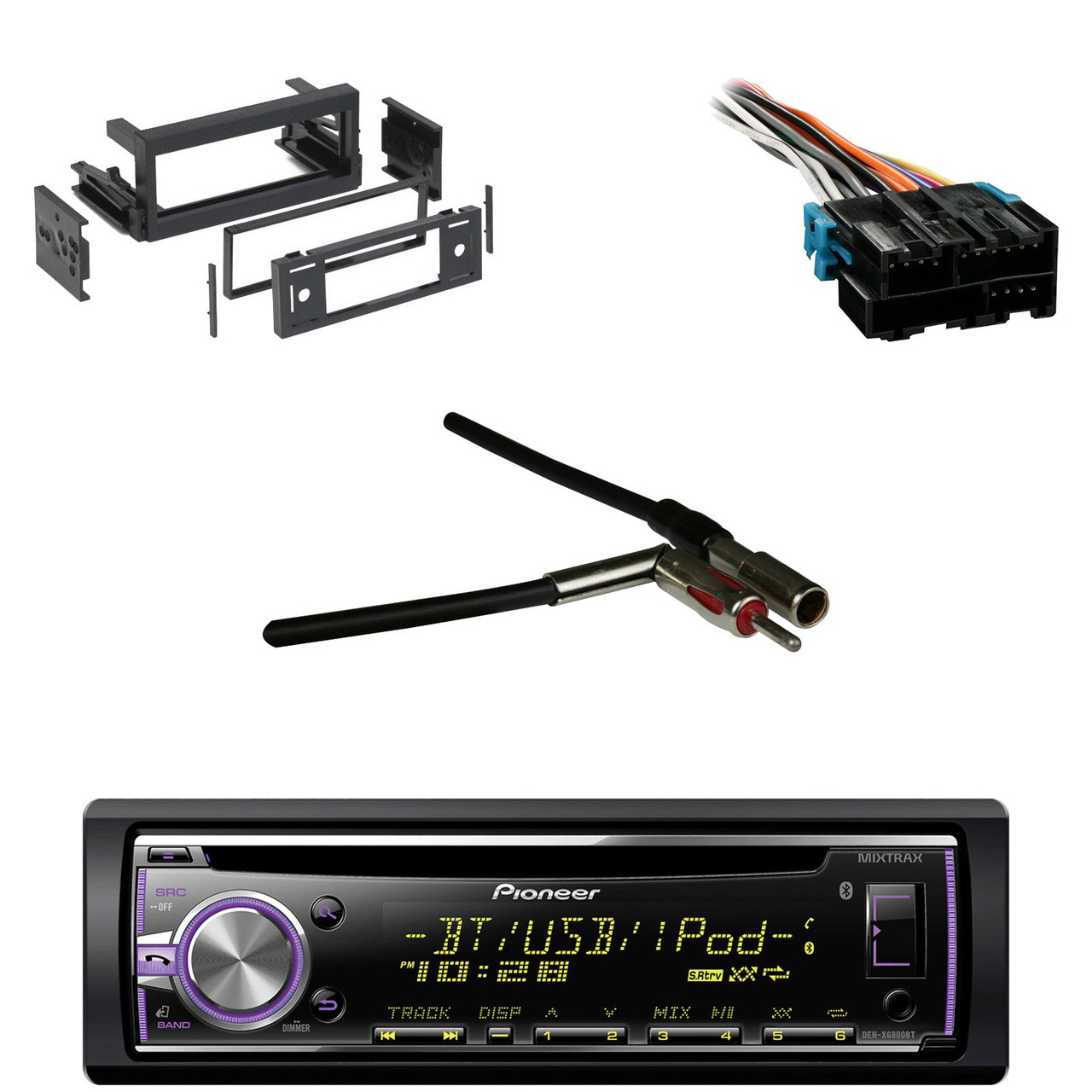 medium resolution of bluetooth pioneer cd car receiver gm wire harness antenna adapter metra din kit
