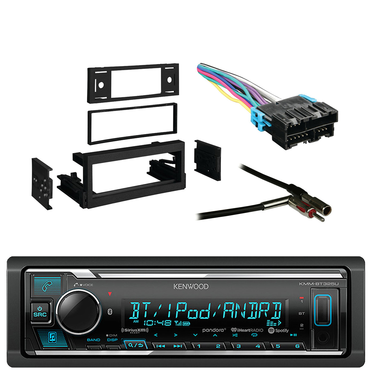 hight resolution of kenwood receiver with am fm tuner with bluetooth with metra dash kit gm radio wiring color code delco radio cd player wiring car tuning