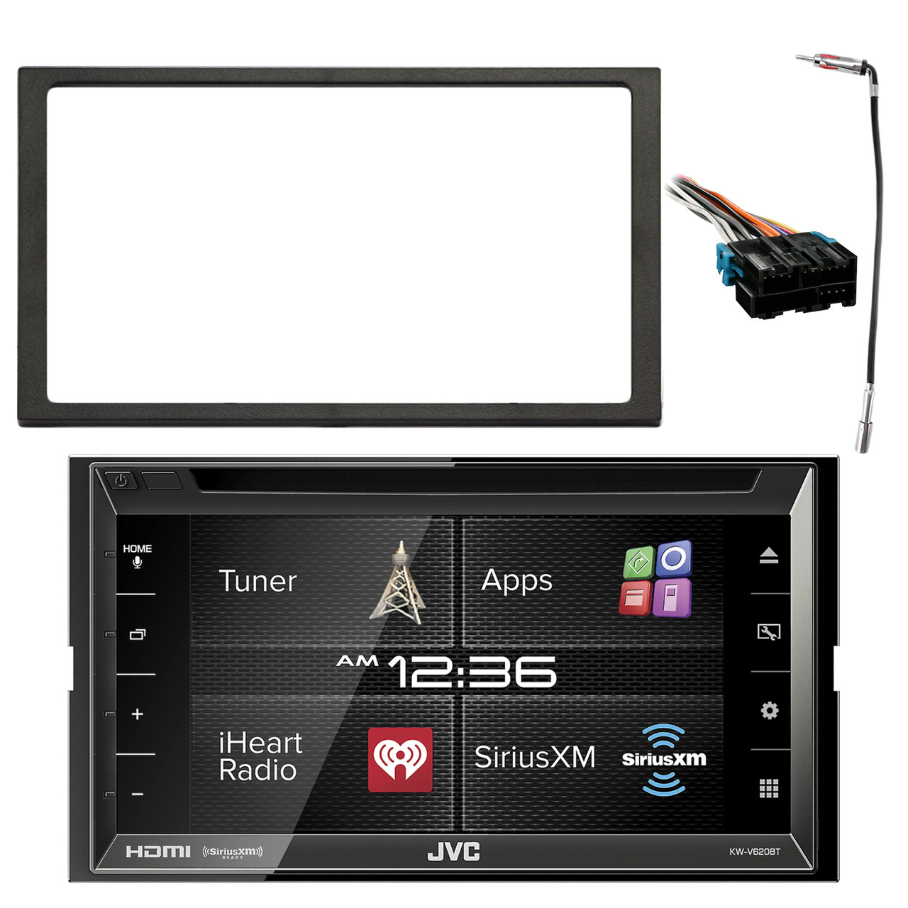 medium resolution of jvc kw v620bt 6 8 display double din bluetooth in dash car stereo pyle wiring harness s10 radio adapter