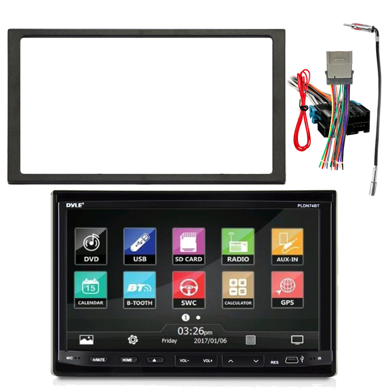 small resolution of pyle pldn744 7 inch double din in dash motorized slide down touch rh roadentertainment com