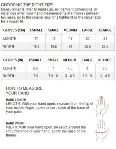 Size chart icebreaker gloves unisexg also terra unisex outdoor  hiking adventure safety rh adventuresafety