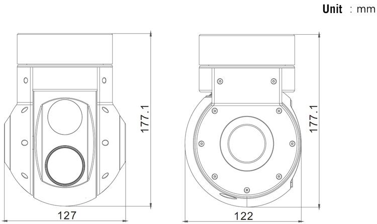 30X EO/IR Dual Sensor Zoom Camera For Fix Wing And VTOL