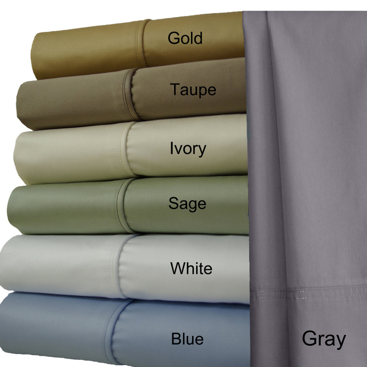 Split King Sheets 1000 Thread Count 100 Cotton Solid Sheet Sets