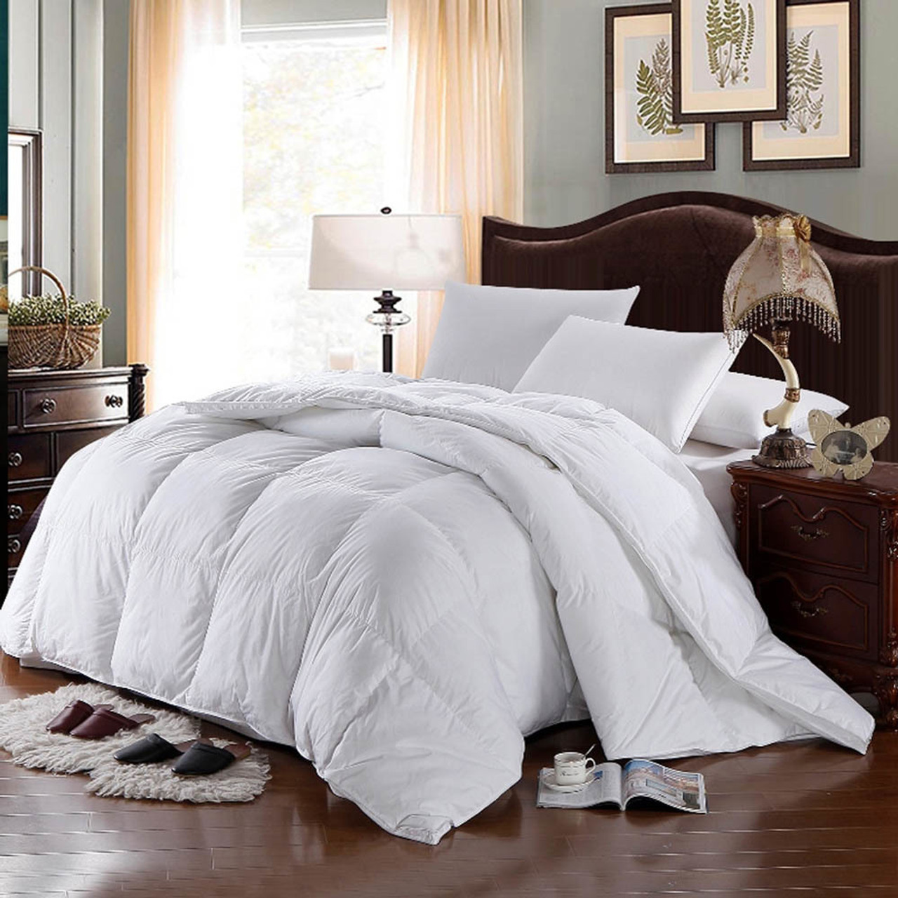100 Cotton Hungarian Goose Comforter 500-thread-count 750fp