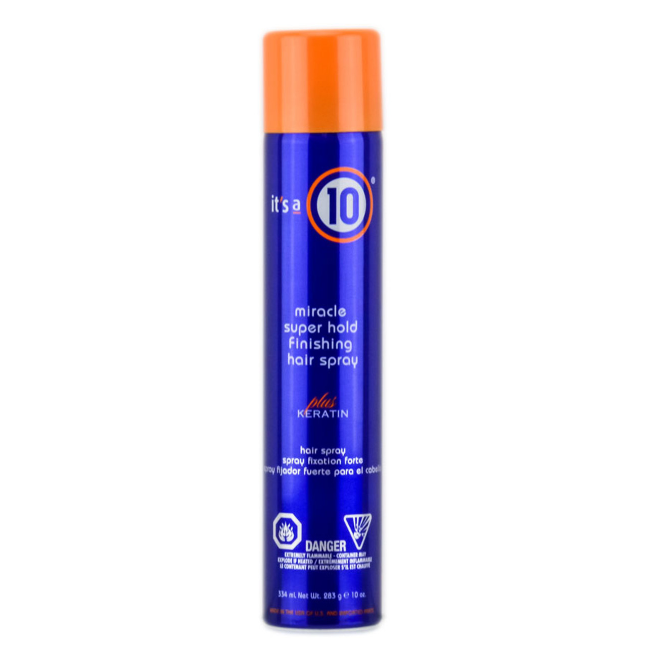 ' 10 Miracle Super Hold Finishing Hair Spray - Keratin