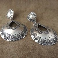 Hand Stamped Sterling Silver Earring - Cimarron River Company