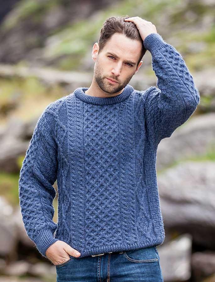 Mens Irish sweater mens fisherman sweaters wool sweater