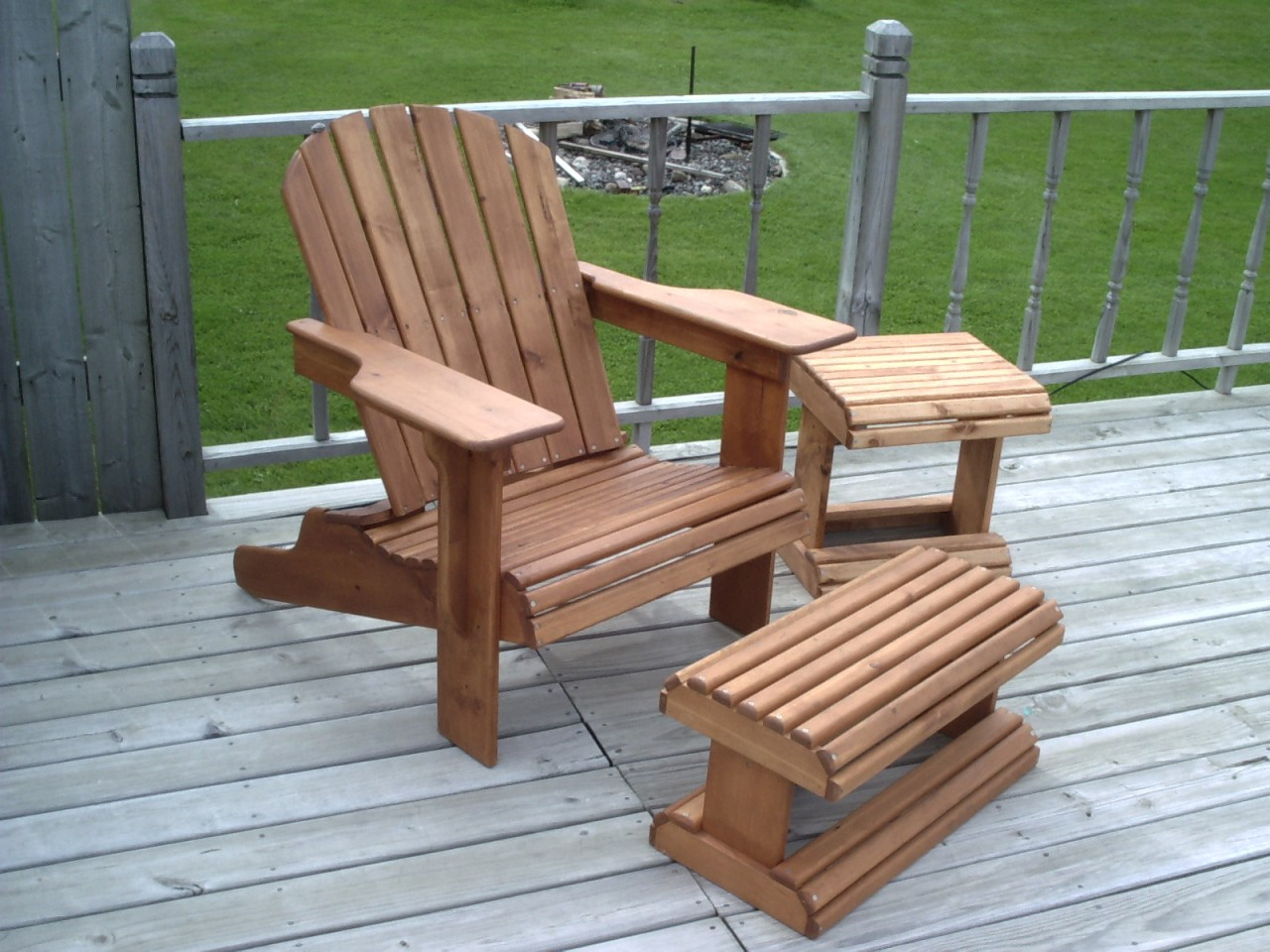 Adirondack Chair Plans Adirondack Chair And Ottoman Woodworking Plans Full Size