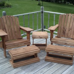 Modern Wood Chair Plans Big Red Adirondack And Ottoman Woodworking Full Size