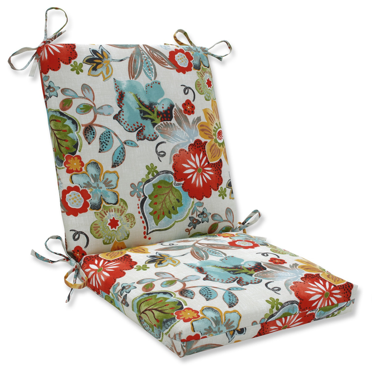 dining chair cushions target sling back chairs 36 5 rustic floral print outdoor patio cushion with