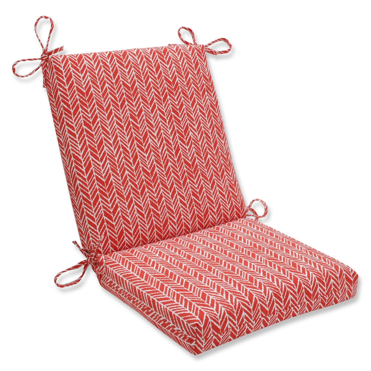 wicker chair cushions with ties chairitee 36 5 simplistic red white outdoor patio cushion cc living