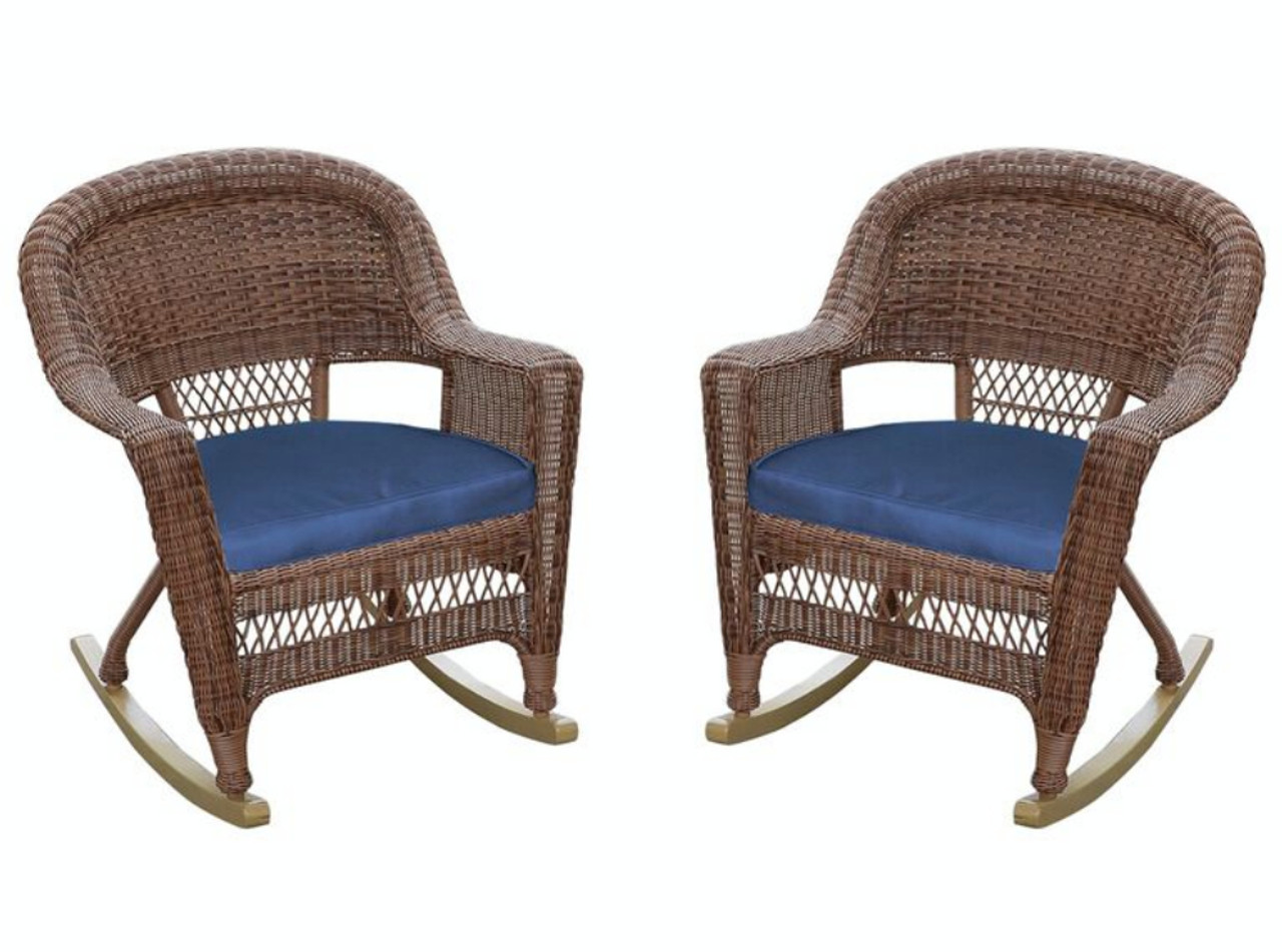 woven plastic garden chairs big folding chair set of 2 honey brown resin wicker outdoor patio
