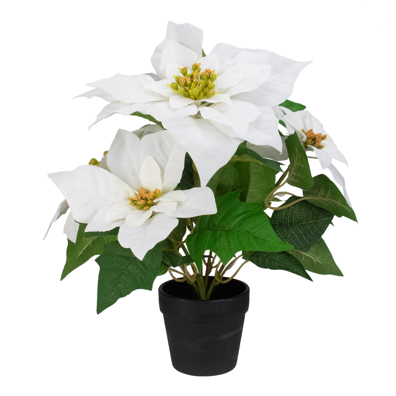 145 Creamy White Artificial Christmas Poinsettia Flower