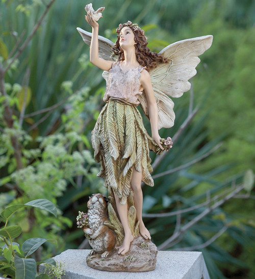 20 Whimsical Fairy With Woodland Friend Outdoor Patio