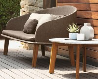 Outdoor Coffee Table With Teak Wood Frame For Sale in ...