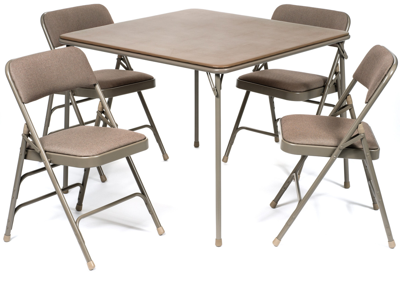 cloth padded folding chairs traveling high chair 5pc xl series card table and fabric