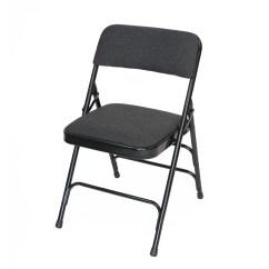 Cloth Padded Folding Chairs Black And White Wingback Chair Rhino Fabric Quad Hinged Triple