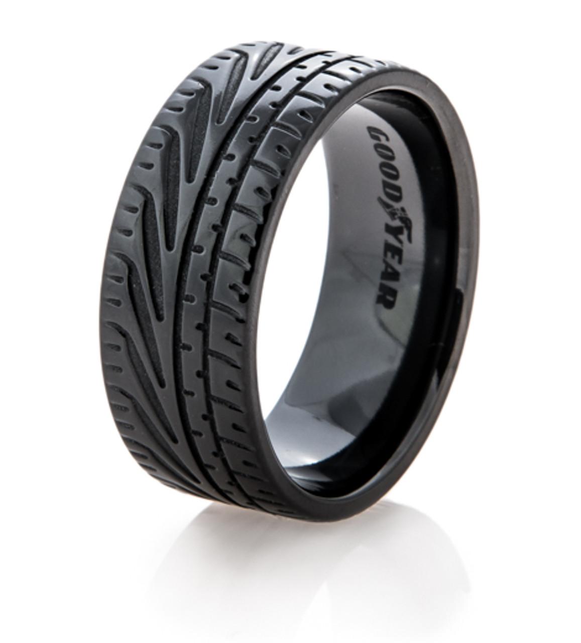 Goodyear Eagle F1 Supercar Tire Wedding Ring Titanium Buzz