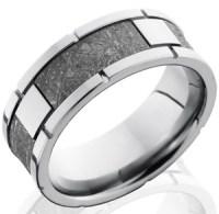 Men's Blue Carbon Fiber and Titanium Gibeon Meteorite Ring ...