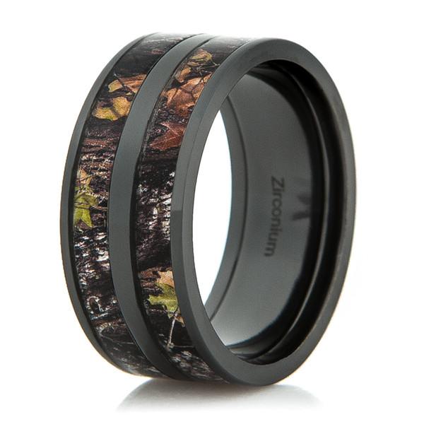 Black Double Barrel Camo Ring From Titanium Buzz