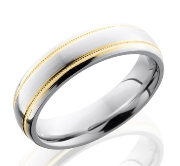 Dual Gold Cobalt Mens Ring Cobalt Metal Rings By
