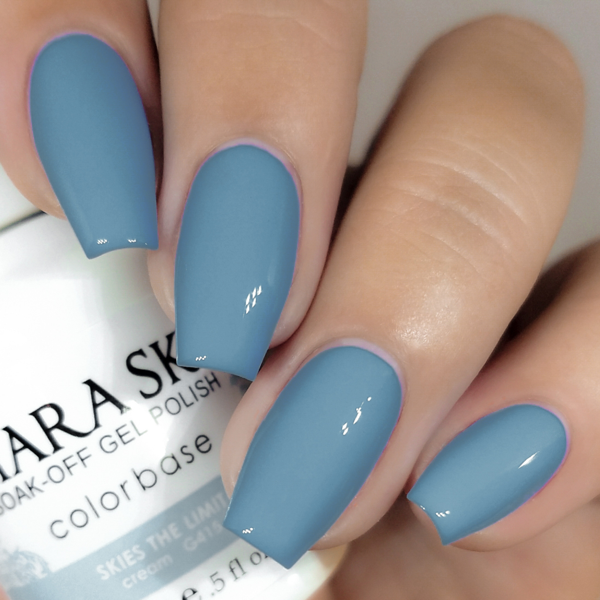 sky blue gel polish