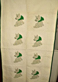 Vintage 1930s Depression Scottie Dog Applique Crib Quilt ...
