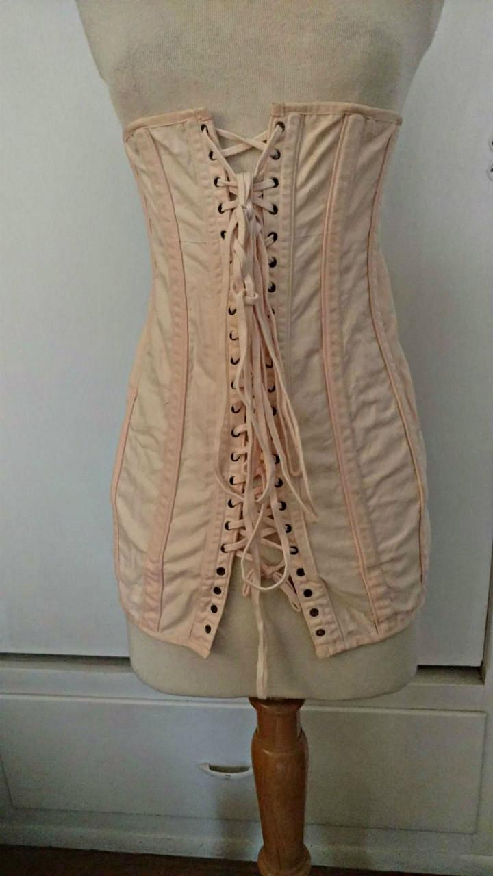 Vintage Edwardian 1920s Spirella Corset Modeling Fitting Under Garment  The Gatherings Antique