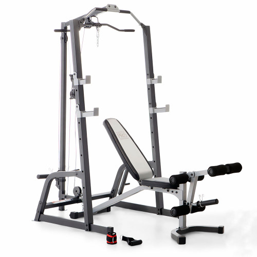 Marcy Deluxe Cage System With Weight Lifting Bench Pm