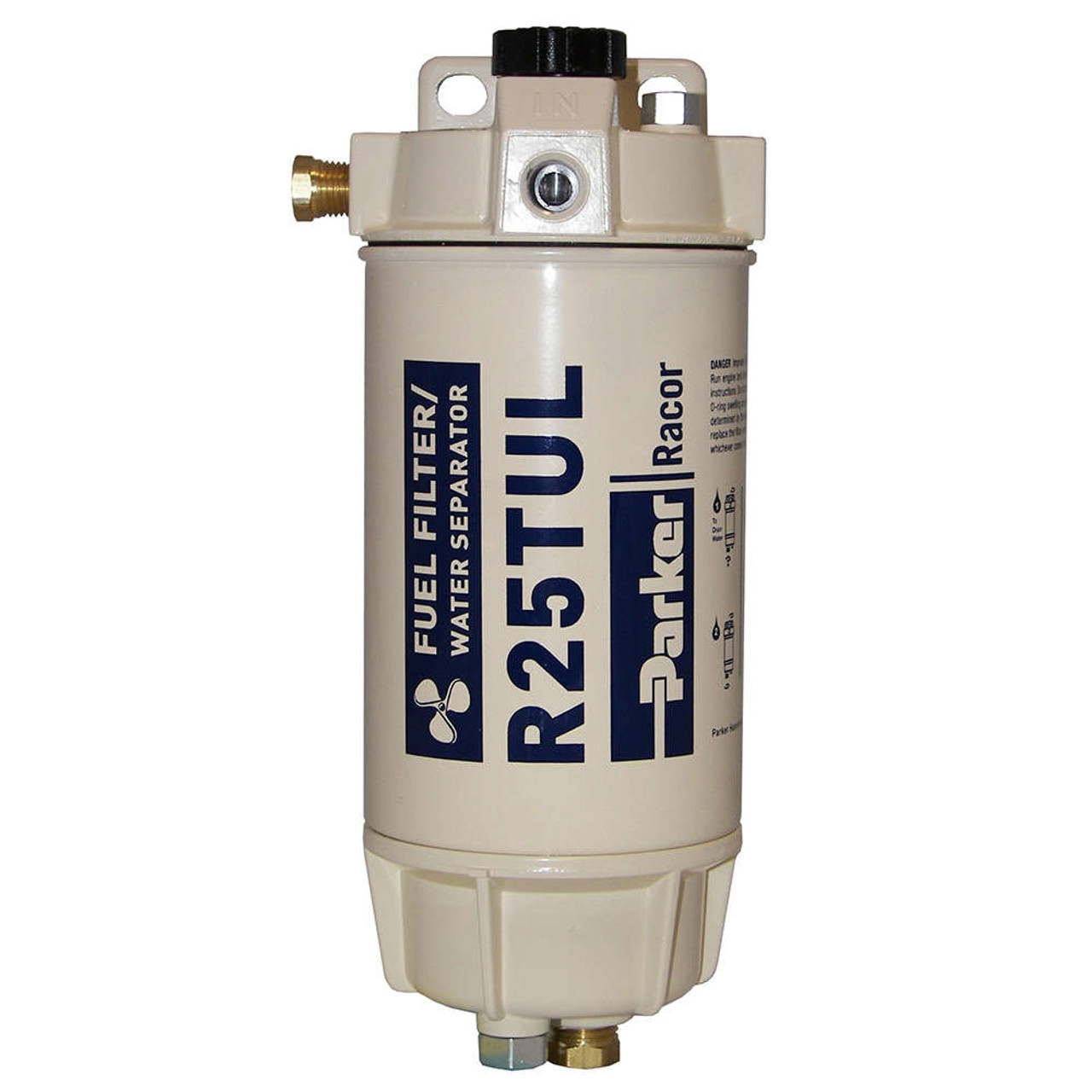 medium resolution of racor 1 4 in 45 gph aquabloc marine spin on type diesel fuel